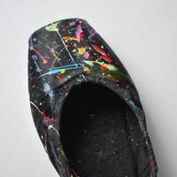 Color Splash II Pointe Shoe by ThePointeShoeProject on Etsy