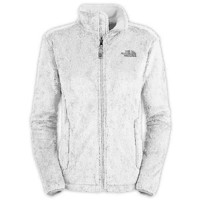 The North Face Women's Osito Fleece Jacket (X-Large, TNF White)