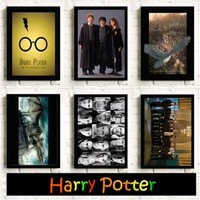 All Harry Potter Series Posters Kids' room decoration Clear Image Wall art painting poster Room decoration canvas painting K126