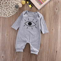 Newborn Infant Kids Baby Boy Girl Cotton long sleeve  Romper autumn Clothes Outfit