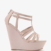 Strappy Patent Wedge Sandals