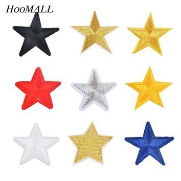 Hoomall 10PCs Iron On Patches Appliques On Clothes DIY Apparel Accessories Handmade Sew On Fabric Star Badges Cloth Ornaments
