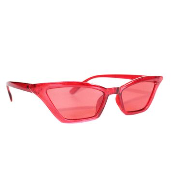 Big Red Retro Cat Eye Sunglasses