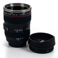 Camera Lens Coffee Mug with Lid by Whetstone