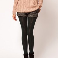 Gipsy Pinstripe Crochet Tights at asos.com