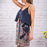 Wild Reactions Dress, Navy