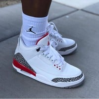 "Air Jordan 3 Retro ""Katrina"" AJ3 Sneakers - Best Deal Online"