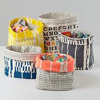 Kids Storage: Fluf Screen Printed Floor Bins in Toy Boxes & Storage | The Land of Nod