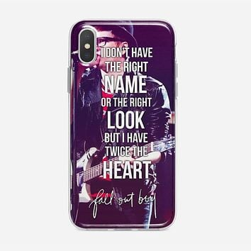 Fall Out Boy Lyric Cover iPhone XS Case