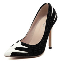 Black and White High Heels / Pumps
