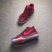 ONETOW NIKE Kyrie 3 Red Men Basketball shoes