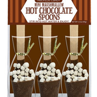 Mini Marshmallow Hot Chocolate Spoons Gift Set