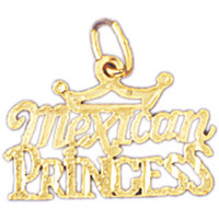 14K GOLD SAYING CHARM - MEXICAN PRINCESS #10423