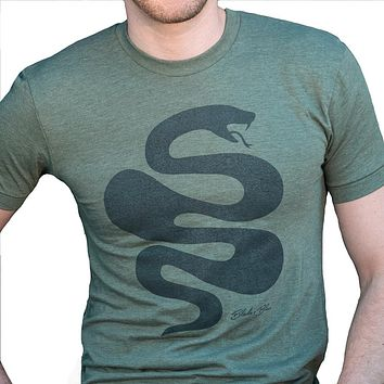 Olive Green Killer Snake Tee Sizes S, XL & XXL Available