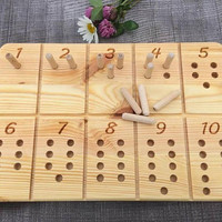 Waldorf / Montessori Inspired Number Counting and Tracing Board, School Toy, Natural Wood Educational Toy, Wooden Number Counting Board