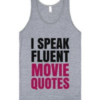 I Speak Fluent Movie Quotes Tank Top Pink Blk Id6221747-Tank