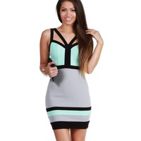 Minty Fresh Bodycon Dress