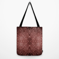 Beautiful Glam Marsala Brown-Red Glitter sparkles Tote Bag by PLdesign