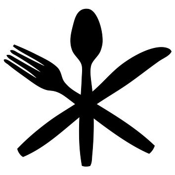 Black Fork Knife Spoon Cutlery  Waterproof Temporary Tattoos Lasts 3 to 4 days