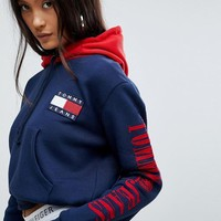 Tommy Jeans 90s Capsule Top with Arm Logo Hoodie