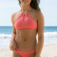 Ale Swimwear - Wind Weaver Halter Top | Coral