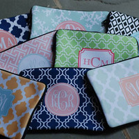 Macbook Sleeve, Laptop or IPad Case Monogram or Personalized Bold Moroccan