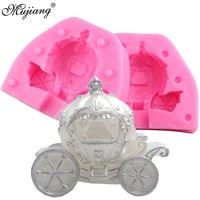 3D Princess Carriage Wedding Cake Decorating Tools DIY Pumpkin Car Candle Clay Mold Chocolate Candy Mould Resin Clay Soap Molds