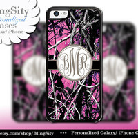 Camo Brown Monogram iPhone 5C 6 Plus Case iPhone 5s 4 case Ipod muddy Realtree Personalized Cover Country Inspired Girl