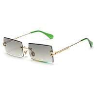 Sale On New Arrival Rimless Square Woman Sunglasses