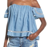 Lovers + Friends 'Life's a Beach' Off the Shoulder Top   Nordstrom