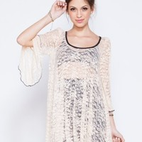 Wasteland Tops - ShopWasteland.com - See You Monday Lace Trumpet Sleeve Top