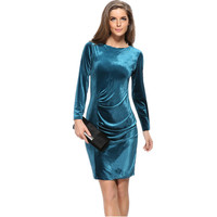 2016 Plus Size Autumn Winter Dress Bodycon European Style Mujer Elegant Women Dress Clothing Evening Party Vestidos De Festa