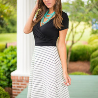 Classically Inspired Dress, Black