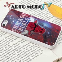 Space Galaxy in Chicago Bulls logo - iPhone 4/4S Case, iPhone 5/5S Case, iPhone 5C Case and Samsung Galaxy S3 i9300 Case, S4 i9500 Case.