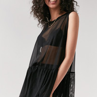 Truly Madly Deeply Mesh Babydoll Tank Top | Urban Outfitters