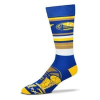 GOLDEN STATE WARRIORS 2017 NBA FINALS CHAMPS CREW SOCKS SIZE LG FOR BARE FEET
