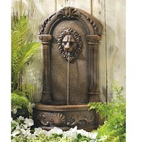 Majestic Lion Outdoor Fountain