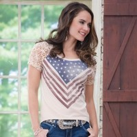 Americana Gal Top By Rock And Roll Cowgirl