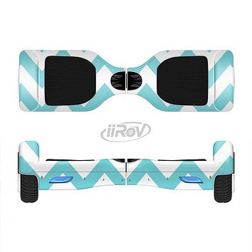 The Subtle Blue & White Chevron Pattern Full-Body Skin Set for the Smart Drifting SuperCharged iiRov HoverBoard