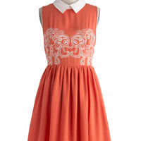 Carrot Cakewalk Dress | Mod Retro Vintage Dresses | ModCloth.com