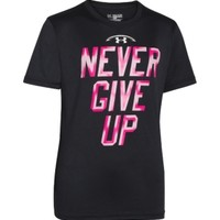Under Armour Boys' Power In Pink Never Give Up Graphic T-Shirt