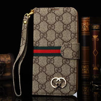 Brand Gold Log Retro Luxury Leather Flip Wallet Cover Case for iPhone 7 6 6S Plus 5S SE 5C Galaxy S5 S6 S7 edge + Note 3 4 5 7