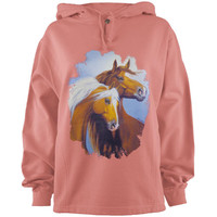 Horses In The Wind Adult Pullover Hoodie