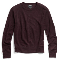 Wool Crewneck Raglan in Eggplant