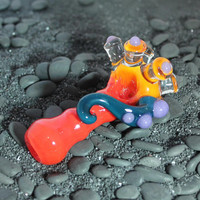 Alien Tentacle Inside out color changing glass pipe AMERICAN made