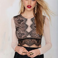 All In Lace Crop Top