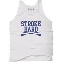 Rowing Stroke Hard Lacrosse Tank Top