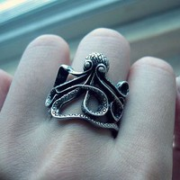 Vintage Octopus Fashion Ring (Antique Bronze)