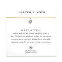 forever summer radiant sun gold silk necklace, sterling silver - Dogeared