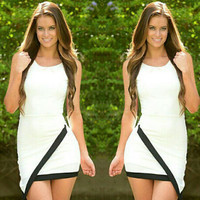 Asymmetrical Sleeveless Bodycon Dress